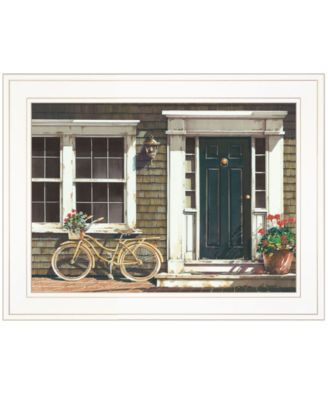 """Parked Out Front by John Rossini, Ready to hang Framed Print, White Frame, 19"""" x 15"""""""