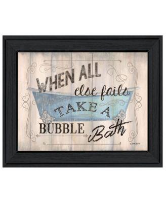"Bathroom Humor by Debbie DeWitt, Ready to hang Framed Print, Black Frame, 19"" x 15"""