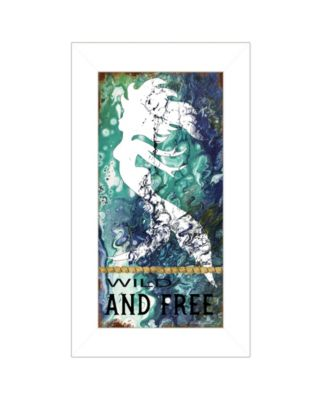 """Wild and Free by Cindy Jacobs, Ready to hang Framed Print, White Frame, 11"""" x 19"""""""