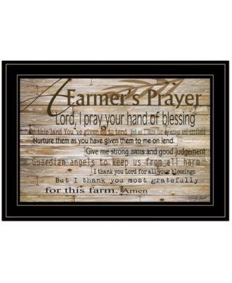 A Farmer's Prayer by Cindy Jacobs, Ready to hang Framed Print, White Frame, 21