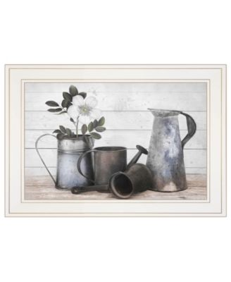 "Floral Farmhouse II by Robin-Lee Vieira, Ready to hang Framed Print, White Frame, 21"" x 15"""