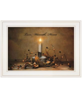 """Love, Warmth, Home by Robin-Lee Vieira, Ready to hang Framed Print, White Frame, 21"""" x 15"""""""
