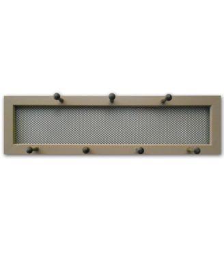 "7-Peg Mug Rack by Millwork Engineering, Taupe Frame, 26"" x 7"""
