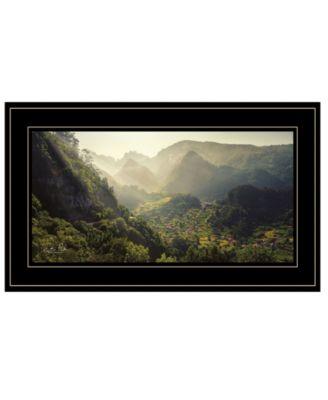 "Land of the Hobbits Martin Podt, Ready to hang Framed Print, Black Frame, 21"" x 12"""