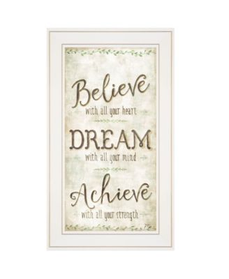 """Believe by Mollie B, Ready to hang Framed Print, White Frame, 12"""" x 21"""""""