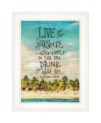 """Live in the Sunshine by Misty Michelle, Ready to hang Framed Print, White Frame, 15"""" x 19"""""""