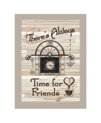 """Time for Friends by Millwork Engineering, Ready to hang Framed Print, Sand Frame, 10"""" x 14"""""""