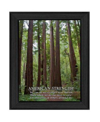"American Strength By Trendy Decor4U, Printed Wall Art, Ready to hang, Black Frame, 15"" x 19"""