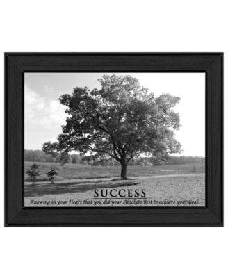 "Success By Trendy Decor4U, Printed Wall Art, Ready to hang, Black Frame, 19"" x 15"""