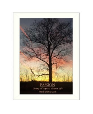 """Passion By Trendy Decor4U, Printed Wall Art, Ready to hang, White Frame, 14"""" x 10"""""""