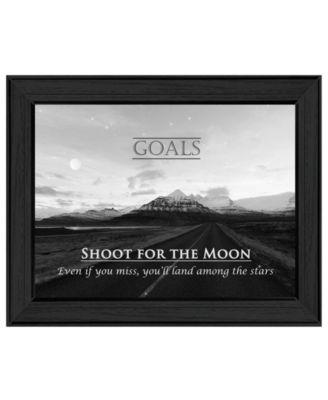 "Goals By Trendy Decor4U, Printed Wall Art, Ready to hang, Black Frame, 19"" x 15"""