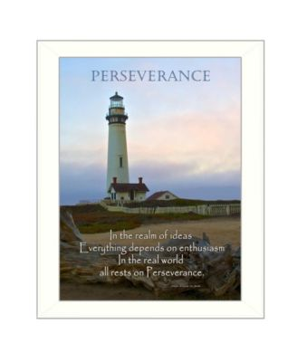 """Perseverance By Trendy Decor4U, Printed Wall Art, Ready to hang, White Frame, 18"""" x 14"""""""