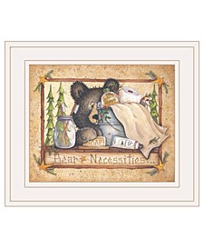 "Trendy Decor 4U Bear Necessities by Mary Ann June, Ready to hang Framed Print, White Frame, 13"" x 11"""