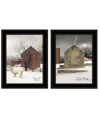 Cold Winter 2-Piece Vignette by Billy Jacobs, White Frame, 15