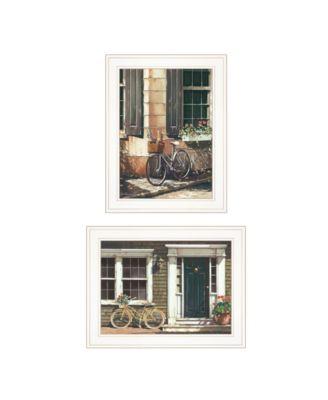 "A Picnic Getaway 2-Piece Vignette by John Rossini, White Frame, 15"" x 19"""