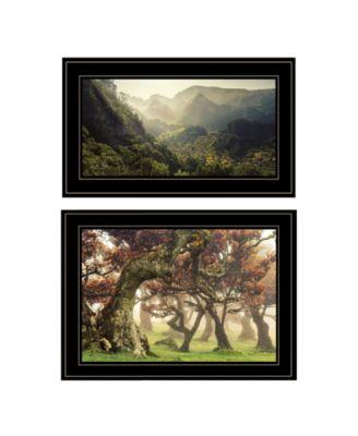 """The Land of Hobbits 2-Piece Vignette by Martin Podt, Black Frame, 21"""" x 15"""""""