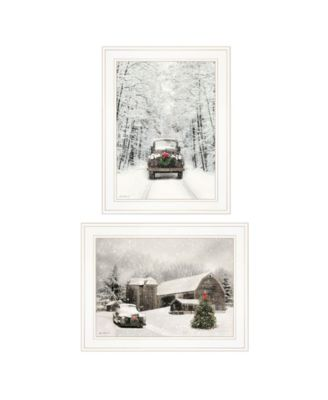 "Antique Christmas 2-Piece Vignette by Lori Deiter, White Frame, 19"" x 15"""