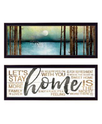 "Love / Home 2-Piece Vignette by Marla Rae, Black Frame, 39"" x 15"""