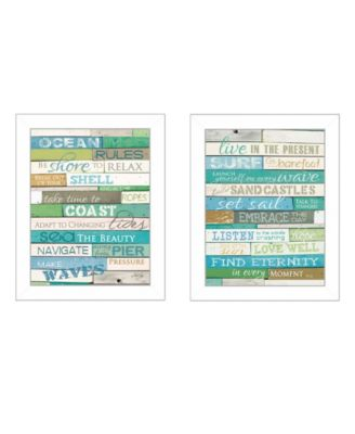 """Live in The Present Collection By Marla Rae, Printed Wall Art, Ready to hang, White Frame, 14"""" x 18"""""""