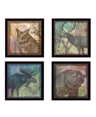"""Wildlife Collection Collection By Barb Tourtillotte, Printed Wall Art, Ready to hang, Black Frame, 56"""" x 14"""""""