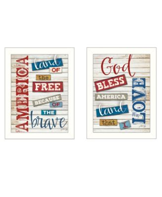 """American Collection By Marla Rae, Printed Wall Art, Ready to hang, White Frame, 14"""" x 18"""""""