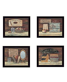 Trendy Decor 4U Bathroom Collection II 4-Piece Vignette by Pam Britton, Frame Collection