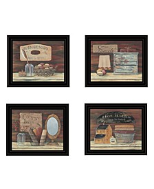 Trendy Decor 4U BATHROOM COLLECTION I 4-Piece Vignette by Pam Britton Collection
