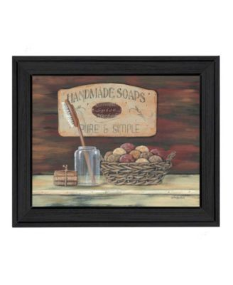 HANDMADE SOAPS-by Pam Britton, Ready to hang Framed print, White Frame, 17