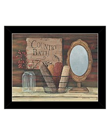 Trendy Decor 4U Country Bath by Pam Britton, Ready to hang Framed Print Collection
