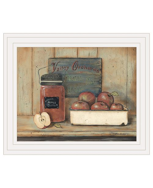"Trendy Decor 4U Trendy Decor 4U Apple Butter by Pam Britton, Ready to hang Framed print, White Frame, 17"" x 14"""