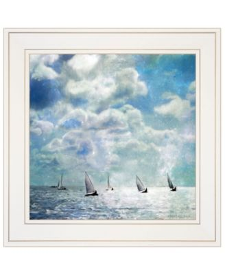 """Sailing White Waters by Bluebird Barn Group, Ready to hang Framed Print, White Frame, 15"""" x 15"""""""