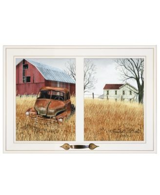 """Granddads Old Truck by Billy Jacobs, Ready to hang Framed Print, White Window-Style Frame, 21"""" x 15"""""""