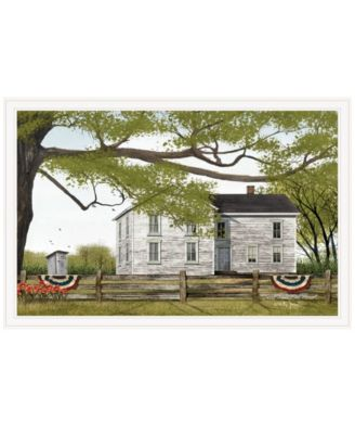 """Sweet Summertime House by Billy Jacobs, Ready to hang Framed Print, White Frame, 38"""" x 26"""""""