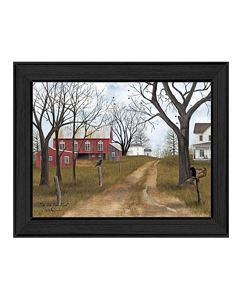 """Trendy Decor 4U Trendy Decor 4U The Old Dirt Road By Billy Jacobs, Printed Wall Art, Ready to hang, Black Frame, 18"""" x 14"""""""