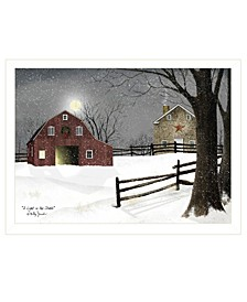 """Trendy Decor 4U Light in the Stable by Billy Jacobs, Ready to hang Framed Print, White Frame, 26"""" x 20"""""""