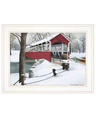 """Crisp Winter Evening by Billy Jacobs, Ready to hang Framed Print, White Frame, 19"""" x 15"""""""