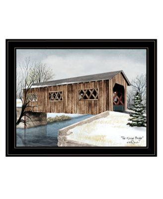 """The Kissing Bridge by Billy Jacobs, Ready to hang Framed Print, Black Frame, 27"""" x 21"""""""