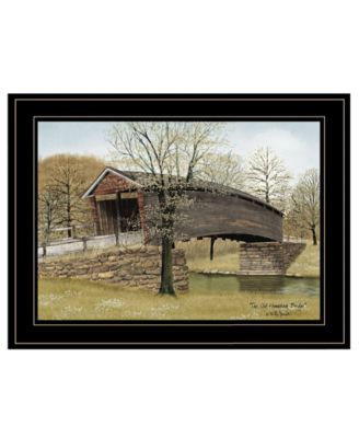 """The Old Humpback Bridge by Billy Jacobs, Ready to hang Framed Print, Black Frame, 19"""" x 15"""""""