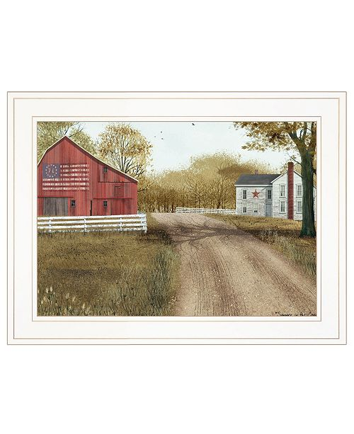 """Trendy Decor 4U Trendy Decor 4U Summer in the Country by Billy Jacobs, Ready to hang Framed Print, White Frame, 19"""" x 15"""""""
