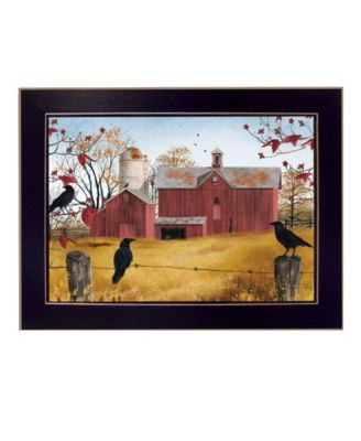 """Autumn Gold By Billy Jacobs, Printed Wall Art, Ready to hang, Black Frame, 14"""" x 10"""""""
