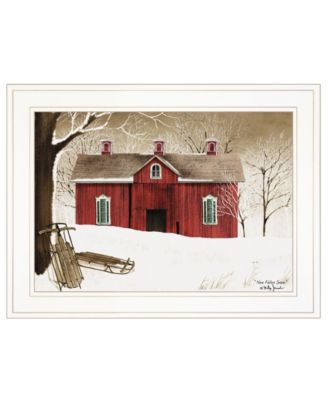 """New Fallen Snow by Billy Jacobs, Ready to hang Framed Print, White Frame, 19"""" x 15"""""""