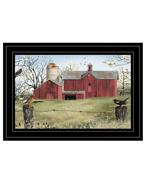"Trendy Decor 4U Trendy Decor 4U Harbingers of Spring by Billy Jacobs, Ready to hang Framed Print, Black Frame, 15"" x 11"""