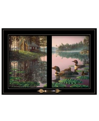 """Northern Tranquility by Kim Norlien, Ready to hang Framed Print, Black Window-Style Frame, 21"""" x 15"""""""