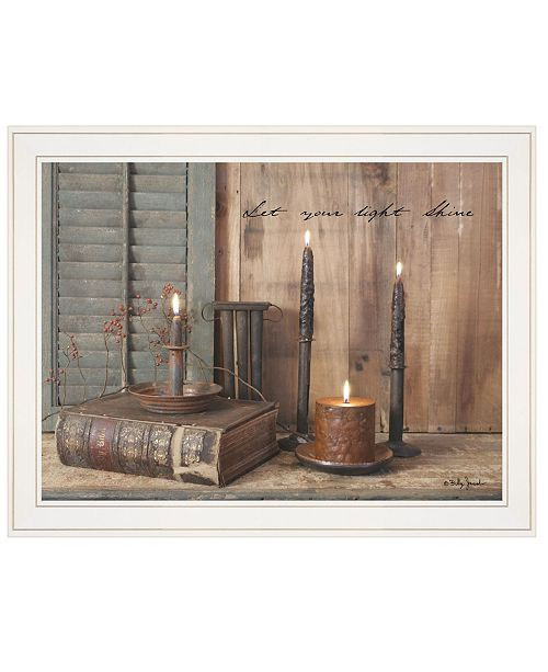 """Trendy Decor 4U Trendy Decor 4U Let Your Light Shine by Billy Jacobs, Ready to hang Framed Print, White Frame, 27"""" x 21"""""""