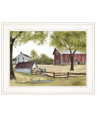 """The Old Spring House by Billy Jacobs, Ready to hang Framed Print, White Frame, 19"""" x 15"""""""