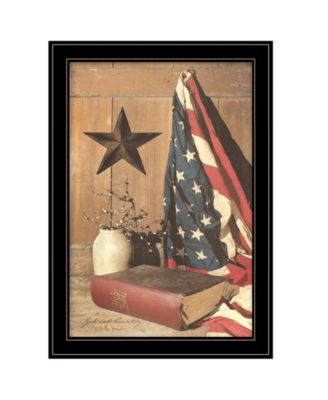 God and Country by Billy Jacobs, Ready to hang Framed Print, Black Frame, 23