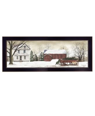 """Christmas Trees for Sale By Billy Jacobs, Printed Wall Art, Ready to hang, Black Frame, 20"""" x 8"""""""