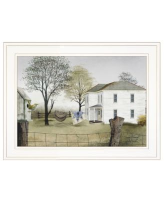 """Spring Cleaning by Billy Jacobs, Ready to hang Framed Print, White Frame, 21"""" x 15"""""""