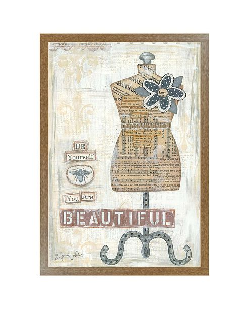 "Trendy Decor 4U Trendy Decor 4U Beautiful By Annie LaPoint, Printed Wall Art, Ready to hang, Brown Frame, 20"" x 14"""
