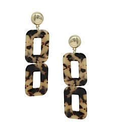Double Square Resin Earrings